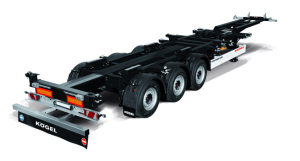 Oplegger containerchassis